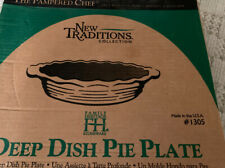 pampered chef stoneware Deep Dish Pie Plate