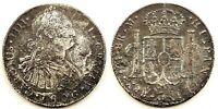 Spain-Carlos IV. 8 Reales 1806. Guatemala. Plata 25,2 g. NAUFRAGIO. Rara