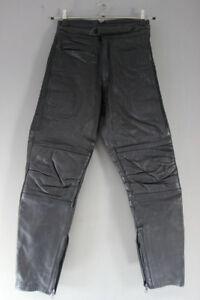 RHINO BLACK COWHIDE LEATHER BIKER TROUSERS - WAIST 28 INCH/INSIDE LEG 28 INCH