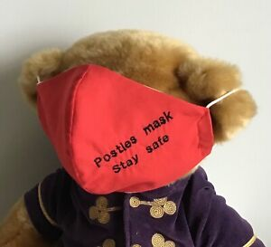 STANDARD ADULTS PERSONALISED POSTMAN WASHABLE & REUSABLE COTTON  FACE MASK