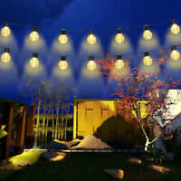 Globe Outdoor String Lights Patio Party Xmas Yard Waterproof Solar 10 LED Bulbs