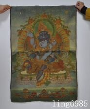 "36""Tibet Buddhism Yab-Yum Mahakala Jambhala god Statue thangkas tangka"