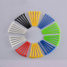 Perfect 10Pcs Random Color Tee System Length 68mm Plastic Pro Golf Tees *