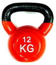 Ironman Colour Vinyl Kettlebell 12kg - RED  - FREE Postage UK Mainland