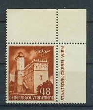 Generalgouvernement Briefmarken 1941 Bauwerke mit Rand Mi 69