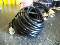 9' CO-PHASE BLACK COAXIAL COAX CABLE RG59AU PLUG TO PLUG PL259s CONNECTORS ~NEW