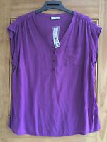 Yessica @ C&a New Purple  Sleeveless  Top Blouse Uk Size 12 - 20 Bnwt