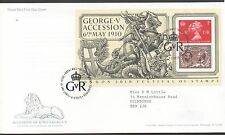 GB 2010 FDC Centenary GV Accession Minisheet Tallents House postmark , Stamps
