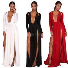 Cocktail V Neck Regular Size Maxi Dresses for Women