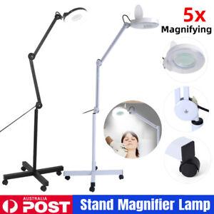 5x Magnifying Lamp Floor Stand 120 LED Glass Lens Magnifier Light Beauty Salon