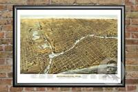 Old Map of Milwaukee, WI from 1872 - Vintage Wisconsin Art, Historic Decor