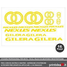 FOGLIO ADESIVO SCOOTER GILERA NEXUS 125/300/500 STICKERS ADESIVI GIALLO FLUO