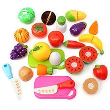 20 Lebensmittel Sets Plastik Schneiden Zubehör Kinderküche Spielküche Kaufladen