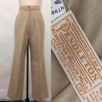 Vintage 60s Pendleton Tan Wool Pants Size Medium/Large