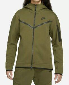 NWT Nike Tech Fleece Windrunner Full Zip Hoodie Jacket Green CU4489 326 $130 S