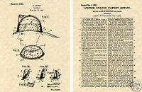 CAIRNS FIRE HELMET 1926 US PATENT ART PRINT READY TO FRAME!! fighting eagle FDNY