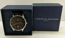 **NEW** TOMMY HILFIGER Men's Stainless Steel Quartz Watch with Leather 1791494