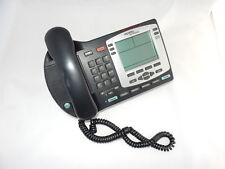 Business Desk Phone Nortel NTDU92 PoE Ethernet Charcoal & Silver LCD Speaker