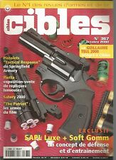 """CIBLES N°367 PISTOLETS """"TACTICAL RESPONSE"""" / SAPL LUXE + SOFT GOMM / THE PATRIOT"""