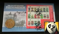 2000 ISLE OF MAN Royal Visit Horse Drawn Tram 1 One Crown Coin Signed Cover +COA