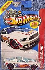 2013 Hot Wheels #106of250 HW Racing-Race Team '13 Ford Mustang GT White Variant