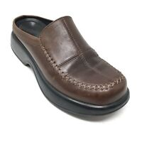 Women's Dansko Mules Clogs Shoes Size 37 EU/6.5-7 US Brown Leather Nursing N2