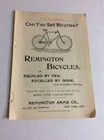 1893 MAGAZINE AD #A3-190 - Remington Bicycles