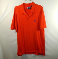 Ralph Lauren Chaps Mens Short Sleeve Polo Golf Shirt Orange Size MEDIUM M