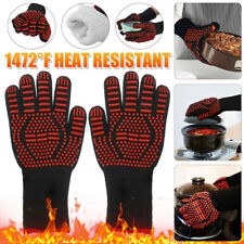 1472°F Silicone Extreme Heat Resistant Cooking Oven Mitt BBQ Hot Grilling  '.