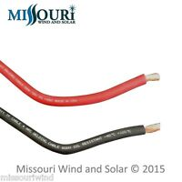 # 4 welding cable 2 -10 foot lengths red and black for battery PV wind turbine