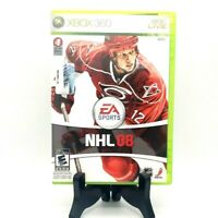 EA Sports NHL 08 Microsoft Xbox 360 Complete Game Case Manual Very Good