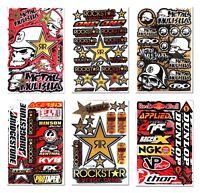 Metal Mulisha Vinyl Sticker Sheets Gas Tank Race Emblem badge Motorcycle Decals
