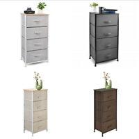 Nightstand Chest 4Drawers Bedside Dresser Furniture for Bedroom Office Organizer