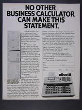 1977 Olivetti Logos 75B Business Calculator photo vintage print Ad