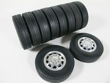 Tamiya R/C 1/14 Aluminum Front & Rear Truck Wheels Rims Tires King Grand Hauler