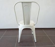 Chaise industrielle vintage blanc patiné (occasion)