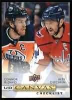 2019-20 Upper Deck UD Canvas #C90 Connor McDavid/Alexander Ovechkin