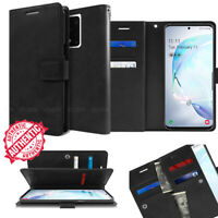 Leather Wallet Card Holder Flip Dual Case Cover for Galaxy S20, S20+, S20 Ultra