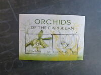 2010 GRENADA ORCHIDS OF THE CARIBBEAN 2 STAMP MINI SHEET MNH