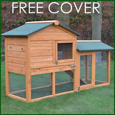 RABBIT HUTCH GUINEA PIG HUTCHES RUN RUNS LARGE 2 TIER DOUBLE DECKER FERRET CAGE