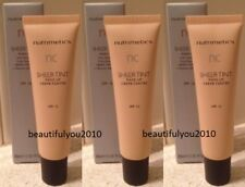NUTRIMETICS NC SHEER TINT MAKE-UP 30ML X 3 SPF15 RRP $84 SHADE LIGHT OR MEDIUM