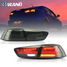 VLAND LED Tail Lights For Mitsubushi Lancer / EVO X 2008-2017 Audi Style Smoked