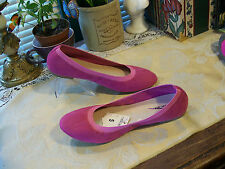 Cherokee Faux Suede Ballet Flats SZ 8M....Color:  Pink Rose...New