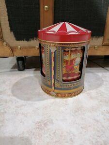 Carillon Carosello Giostra Cavalli Scatola Latta Vintage