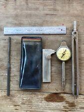 Selsi Gauge Nautical Compass, Precis File, Compass, Rule &Caliper