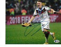 GERMANY BASTIAN SCHWEINSTEIGER signed autographed 2014 WC 8x10 PHOTO BECKETT COA