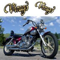 2X Motorcycle 3D Fuel Gas Tank Badge Emblem Decal Sticker For Yamaha Virago!!!