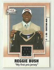 2006 Sage REGGIE BUSH 1st Pro Jersey GAME USED New Orleans Saints Rare 6/10 Hot