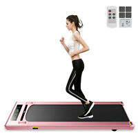 Treadmill Under Desk 2in1 2.5HP Fitness LED Display App Remote Controller Home