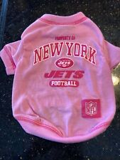 Pets First New York Jets Pink Dog T-Shirt - Small